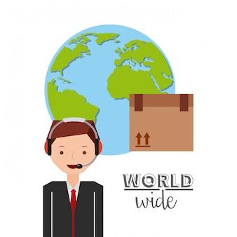 Weltweite flache symbole