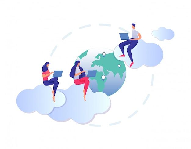 Weltweites netz, fernunterricht und e-learning