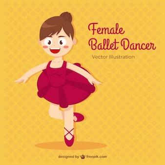 Wenig balletttänzer im cartoon-stil