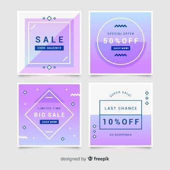 Werbe quadratische banner-sammlung