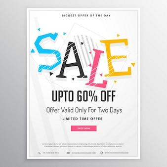 Werbe-verkauf-broschüre vorlage für marketing mit bunten verkauf text
