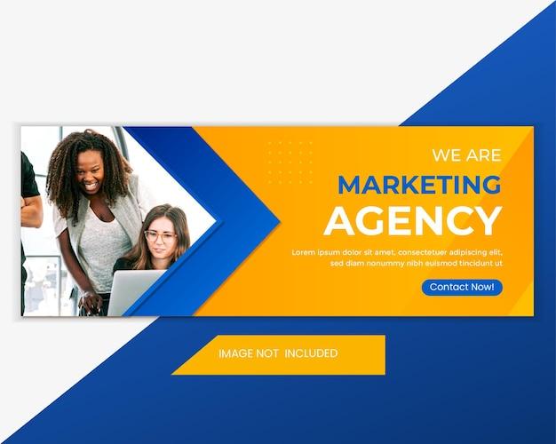 Werbeagentur für social media design facebook-cover, web-banner-vorlage.