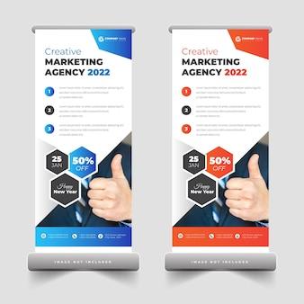 Werbeagentur roll-up-banner oder pull-up-banner-design für werbung