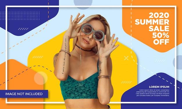 Werbeartikel verkauf banner vorlage
