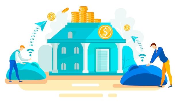 Werbebanner immobilieninvestitionen flat.