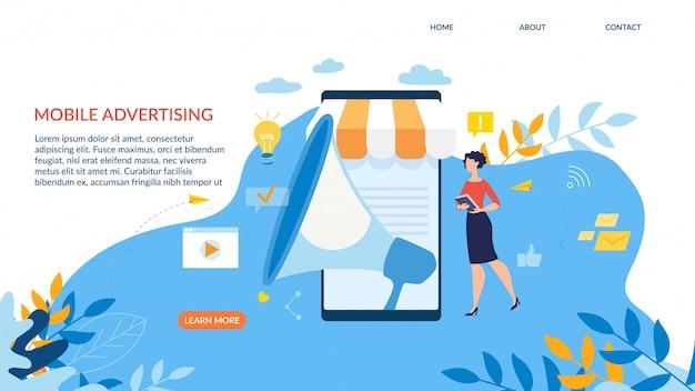 Werbebanner ist mobile advertising geschrieben.