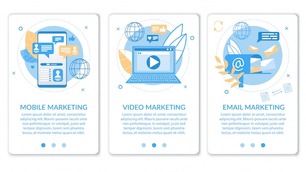 Werbebanner video e-mail mobile marketing.