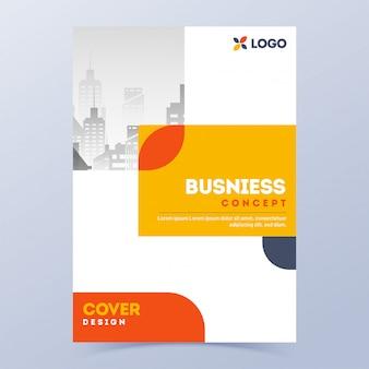 Werbedeckel oder broschüre für den unternehmensbereich.