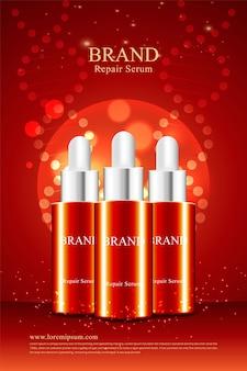 Werbedesign für anti-falten-kosmetikprodukt