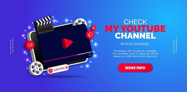 Werbedesign für den youtube-kanal