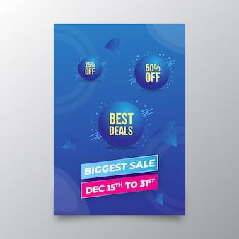Werbeflyerschablone des größten verkaufseinkaufens