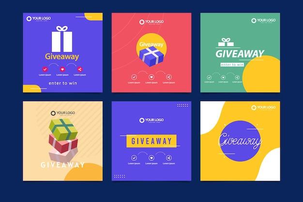 Werbegeschenk-banner-vorlage geschenk social media folgen wie teilen