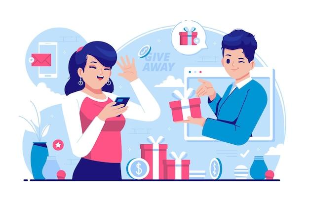 Werbegeschenk konzept illustration