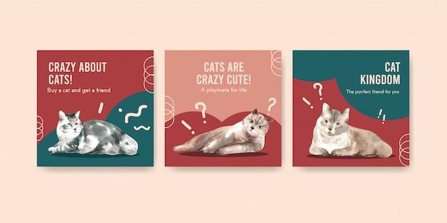 Werben sie mit katzen für vorlagen