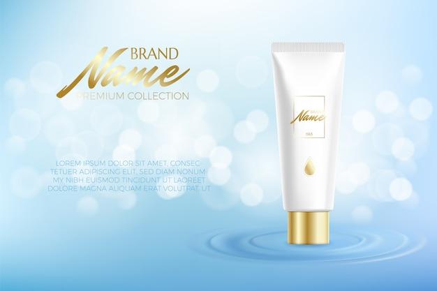 Werbeplakat für kosmetikprodukt für katalog