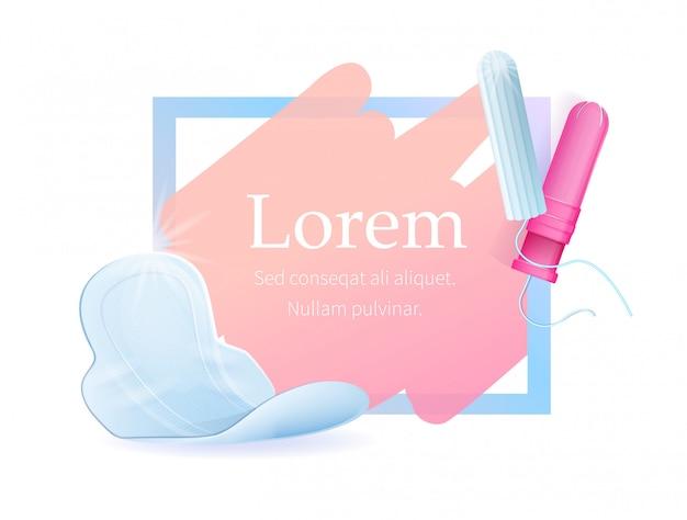 Werbeplakat mit text und hygieneprodukten