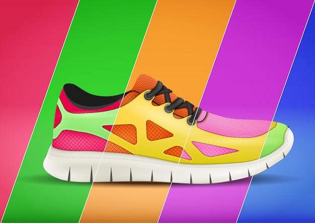 Werbesportplakat in trendiger farbe