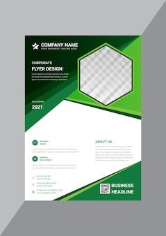 Werbevorlage für kreative unternehmensflyer-designs