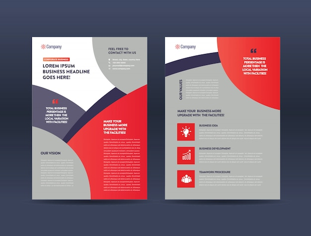 Werbung broschüre vorlage