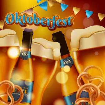 Werbung für das traditionelle oktoberfest-bierfest
