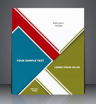 Werbung für geschäftsbroschüren, titelseiten von zeitschriften, websites oder corporate-design-vorlagen