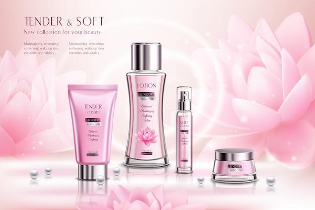 Werbung für kosmetikprodukte