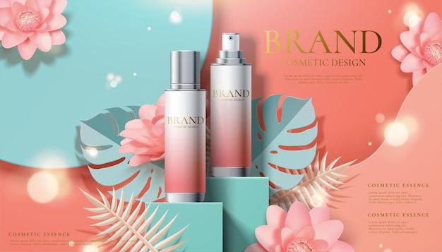 Werbung für kosmetiksprays