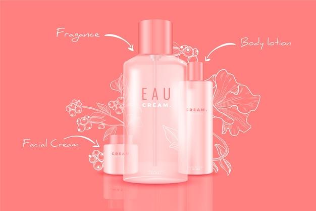 Werbung für kosmetische produkte