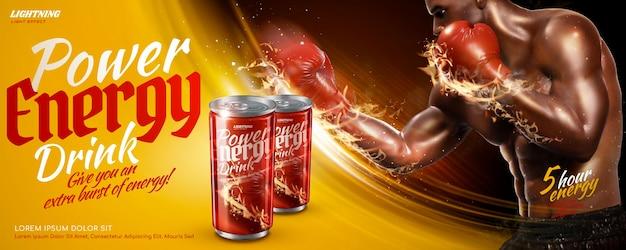 Werbung für power-energy-drinks