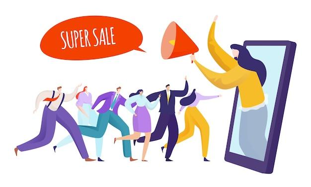 Werbung marketing illustration