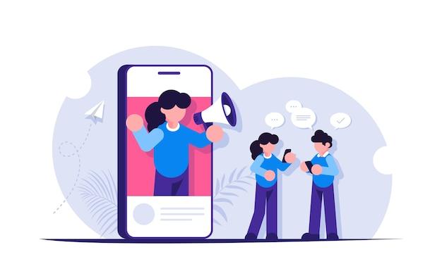 Werbung mit hilfe von menschen in sozialen netzwerken