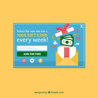 Werbung Pop-up-Vorlage mit flaches Design