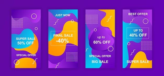 Werbung verkauf design soziale netzwerke instagram geschichten vorlage