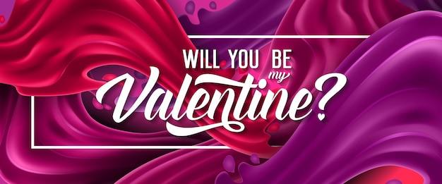 Werden sie meine valentinsgruß-beschriftung sein