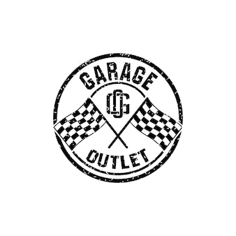 Werkstatt- oder werkstattlogo mit buchstaben g und o logo