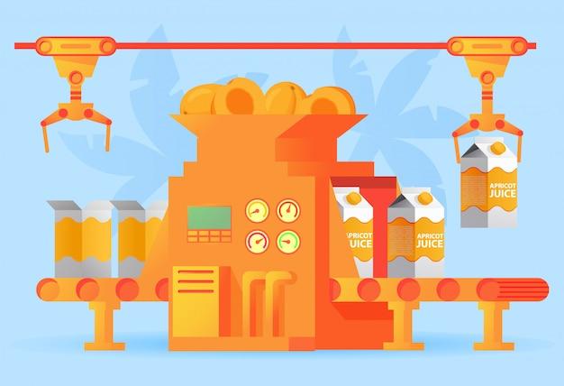 Werksverpackungsförderer aprikosensaft einer schachtel