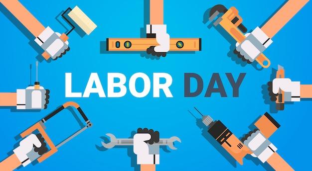 Werktag mit instrument-arbeitskraft-feiertag