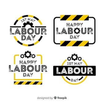 Werktags-label-sammlung