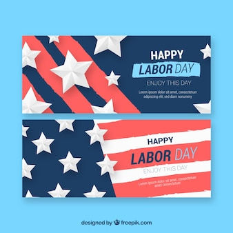 Werktagsfahnen mit amerikanischer flagge