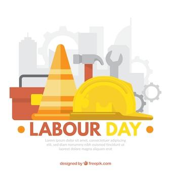 Werktagshintergrund mit werkzeugen