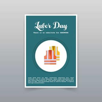 Werktagskarte mit einzigartigem und kreativem designvektor