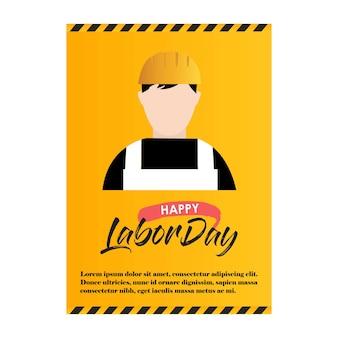 Werktagskarte mit kreativem design und gelbem hintergrund