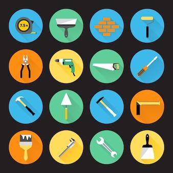 Werkzeug-ikonen-sammlung
