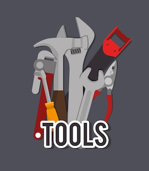 Werkzeugdesign, vektorillustration.