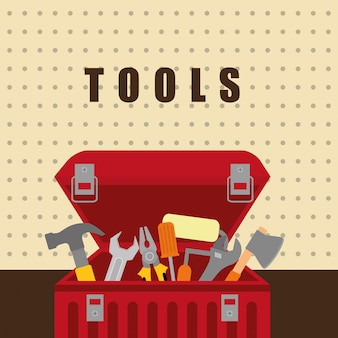 Werkzeuge auf box