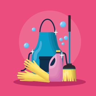 Werkzeuge für den frühjahrsputz