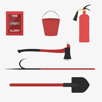 Werkzeuge für die brandbekämpfung