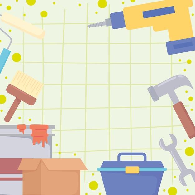 Werkzeuge für reparatur und renovierung