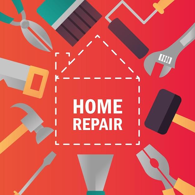 Werkzeuge und geräte für die renovierung von hausreparaturen