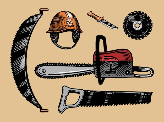 Werkzeuge zum fällen von bäumen